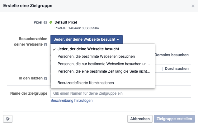 Facebook-Zielgruppe-Website-Custom-Audience-Regeln