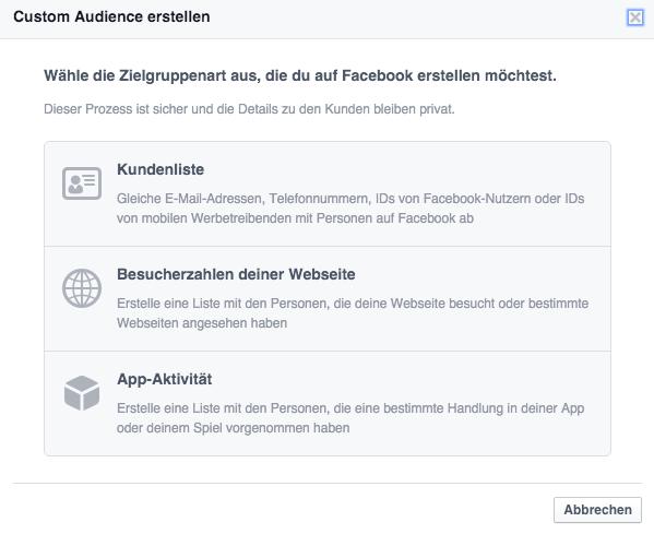 Facebook-Zielgruppe-Website-Custom-Audiences-Werbeanzeigenmanager