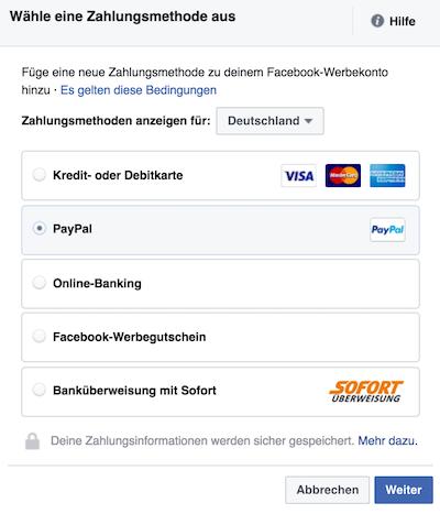 Facebook Werbung schalten