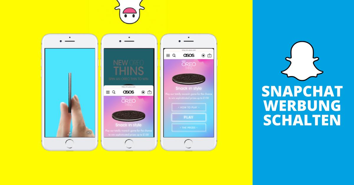Snapchat Werbung schalten: So funktioniert der Snap Ad Manager ...