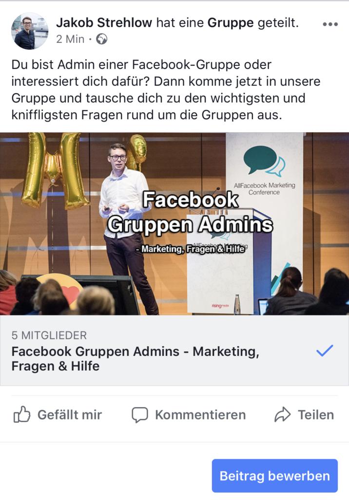 Facebook Gruppe Bewerben Mit Facebook Ads 9